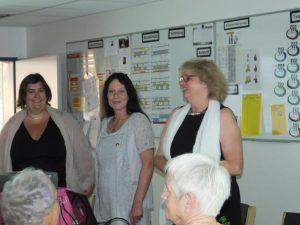 Von Links: Andrea Radde- Reinhard (2.Vorsitzende), Ursula Schäfer-Krefter (Finanzen), Manuela Stadtlander-Lüschen (1.Vorsitzende)